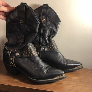 Vintage biker cowboy boots
